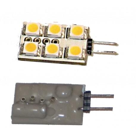 G4 carré 6 leds pin horizontal