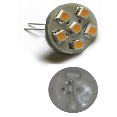 G4 Ronde 6 leds pin Vertical
