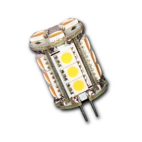 G4 cylindrique 360° 18 leds 5050 pin horizontal